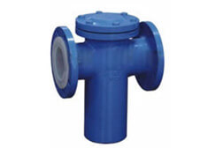 PTFE Lined Bucket Type Strainer