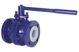 MS PFA Lined Ball Valve