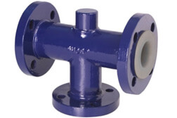 PTFE Lined Pipe Tees
