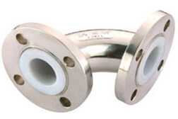 SS 304 PTFE Lined 90° Elbows